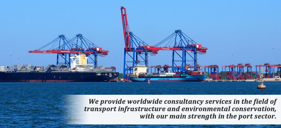 We provide worldwide consultancy services in the field of transport infrastructure and environmental conservation, with our mainstrength in the port sector and marine environment.